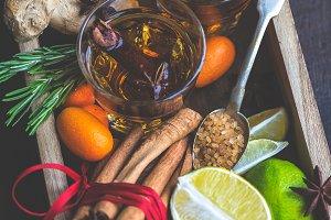 ginger tea concept