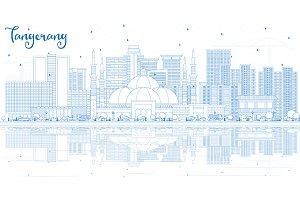 Outline Tangerang Indonesia City Sky