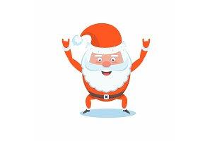 Cool Funny happy Santa Claus