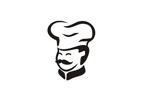 Cute Cartoon Chef Logo design