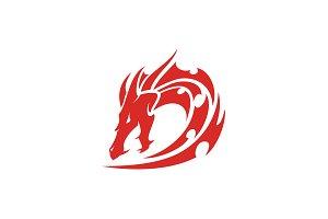 Tribal Initial D for Dragon Logo