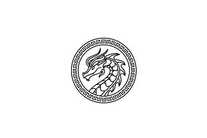 Ancient Dragon Coin/Medallion Logo