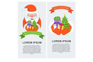 Vertical banner with Santa Claus