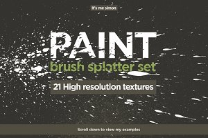 Spray paint splatter set