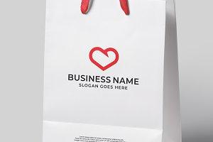 Red Heart Logo Design