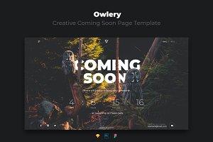 Owlery - Creative Coming Soon Page