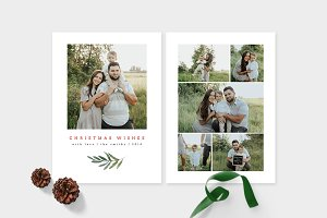 Christmas Photo Card Template -CD105