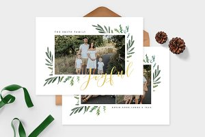 Christmas Photo Card Template -CD106