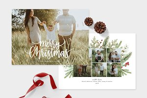 Christmas Photo Card Template -CD107