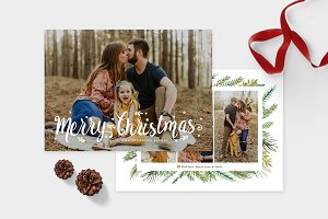 Christmas Photo Card Template -CD108