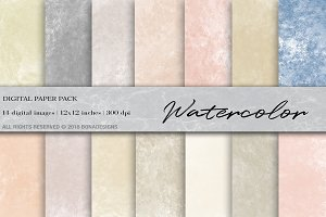Watercolor Digital Paper, Background