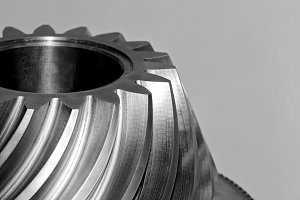 Industrial conical gear, cogwheel.