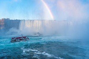 Ship in The Mist of Niagara Falls