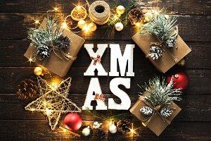 Christmas background Xmas wreat