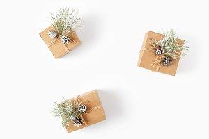Handmade Christmas Gift flat lay