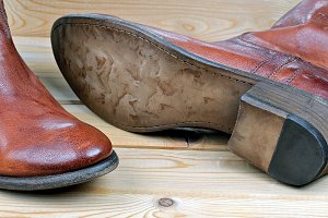 Pair of classic leather cowboy boots