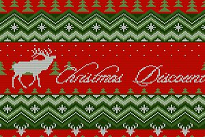 Christmas Discount. Knitted pattern