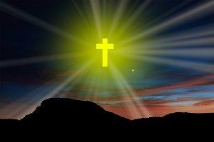 A yellow cross