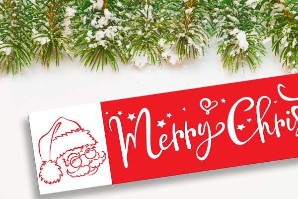 merry christmas banner pre designed photoshop graphics creative market merry christmas banner