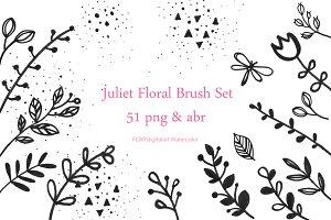Flower doodles floral digital stamp