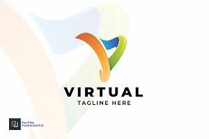 Virtual / Letter V - Logo Template