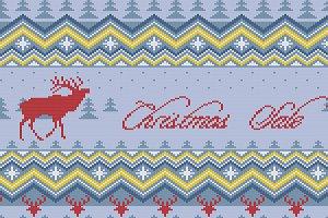 Winter knitted Scandinavian ornament