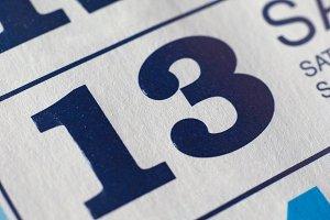 Day 13 on calendar
