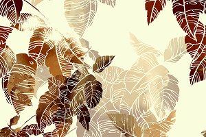 abstract leaves seamless | JPEG