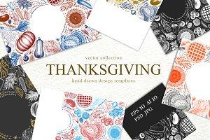 Thanksgiving Vector Templates