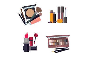 woman cosmetic. makeup beauty