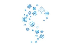 snowflakes icon. Vector color
