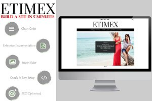 Etimex Personal Blog WordPress Theme