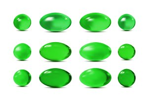 Green vector 3d pills