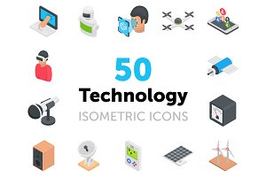 50 Technology Icons