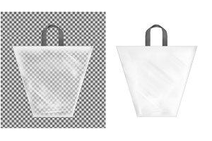 Transparent plastic shopping bag