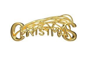 Christmas elegant golden lettering