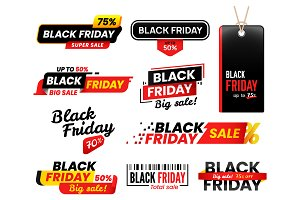 Black Friday vector labels