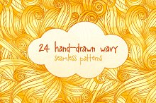24 hand-drawn seamless patterns