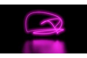 Futuristic Sci-Fi Abstract Purple