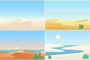 Desert sand dunes landscapes