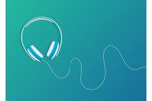 Modern style headphones
