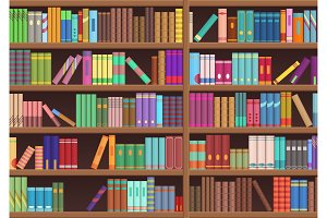 Library book shelfs
