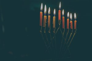 Jewish holiday Hanukkah background