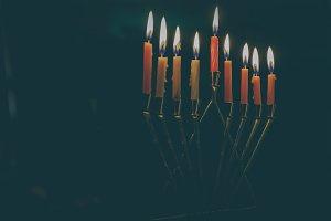 Jewish holiday Hanukkah background