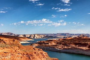 Colorado river with Lake Powell