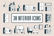 Interior Furniture Icons | 30! by  in Icons
