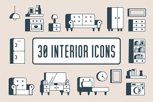 Interior Furniture Icons | 30!