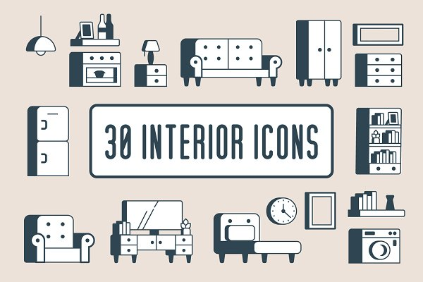 Icons - Interior Furniture Icons | 30!