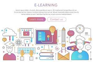 Online internet education concept
