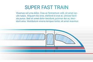 High speed modern rail train